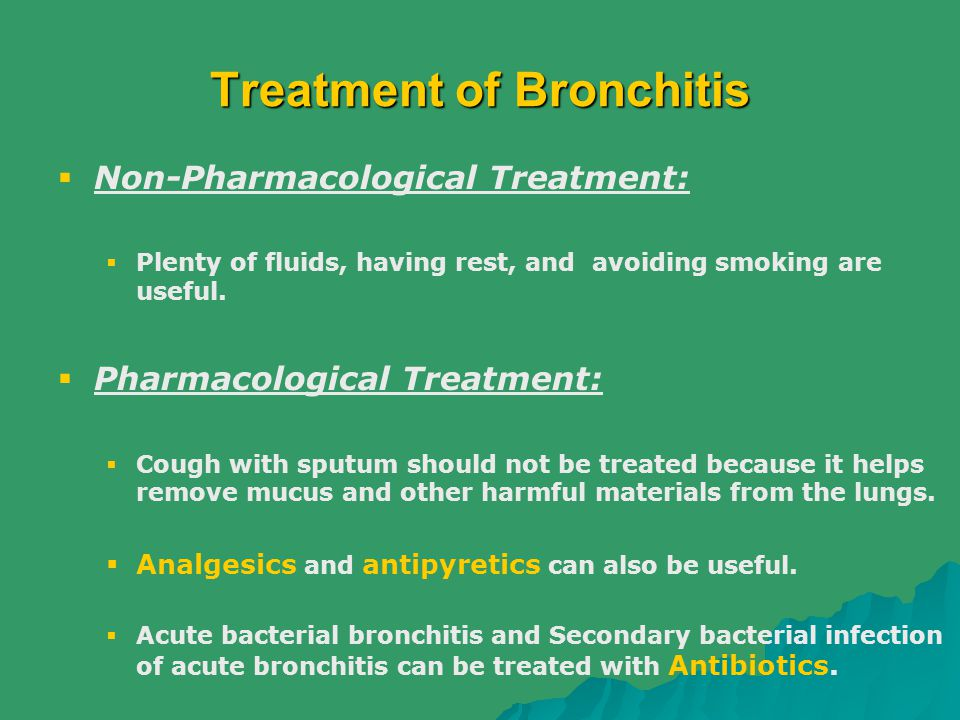 Treatment of Bronchitis