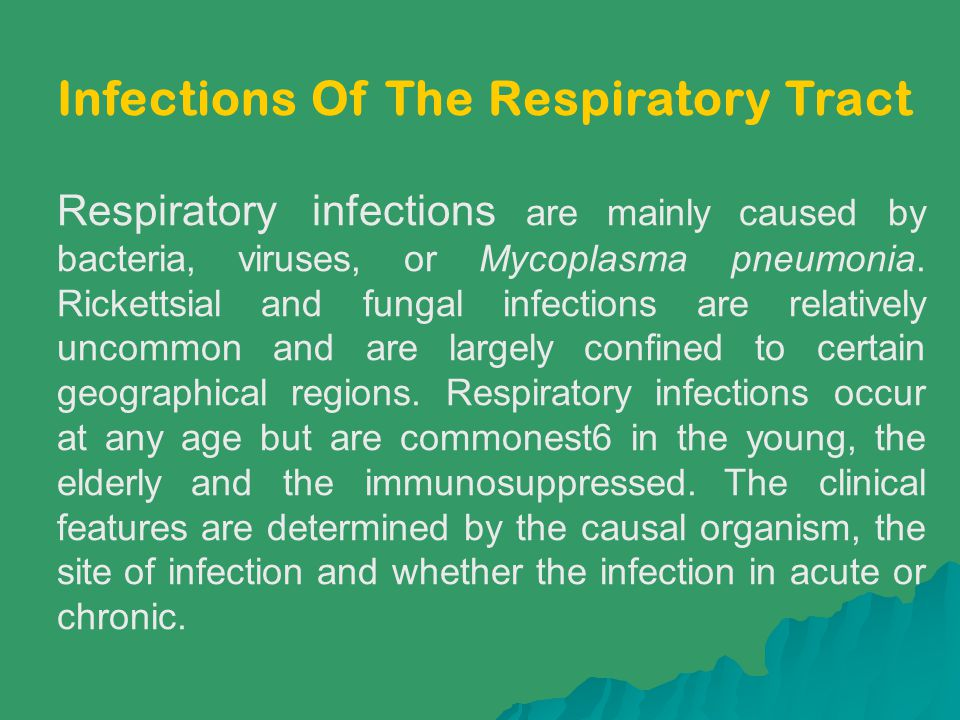 Infections Of The Respiratory Tract