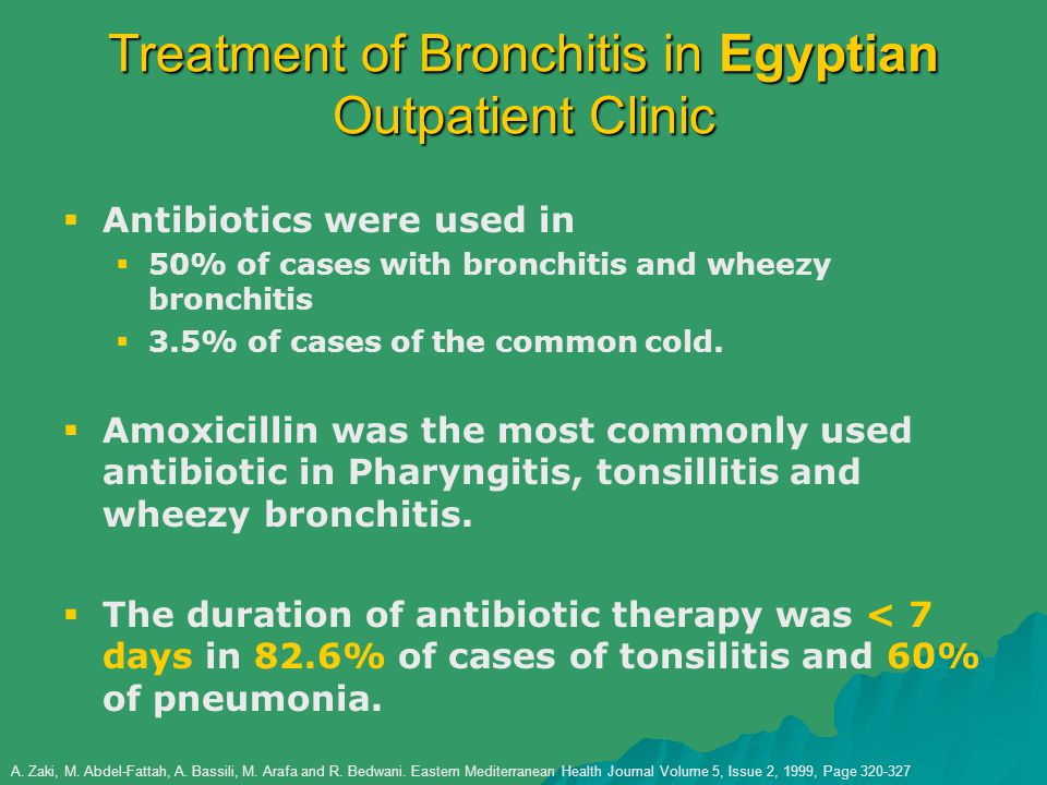 Treatment of Bronchitis in Egyptian Outpatient Clinic