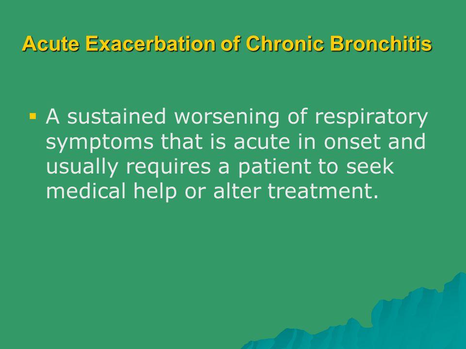 Acute Exacerbation of Chronic Bronchitis