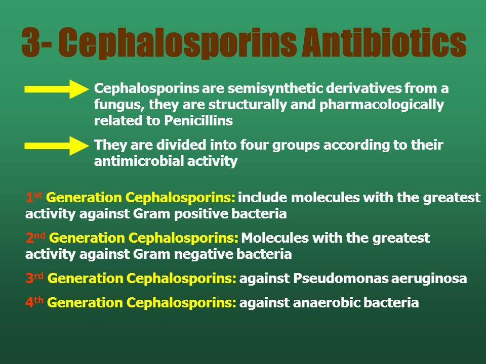 3- Cephalosporins Antibiotics