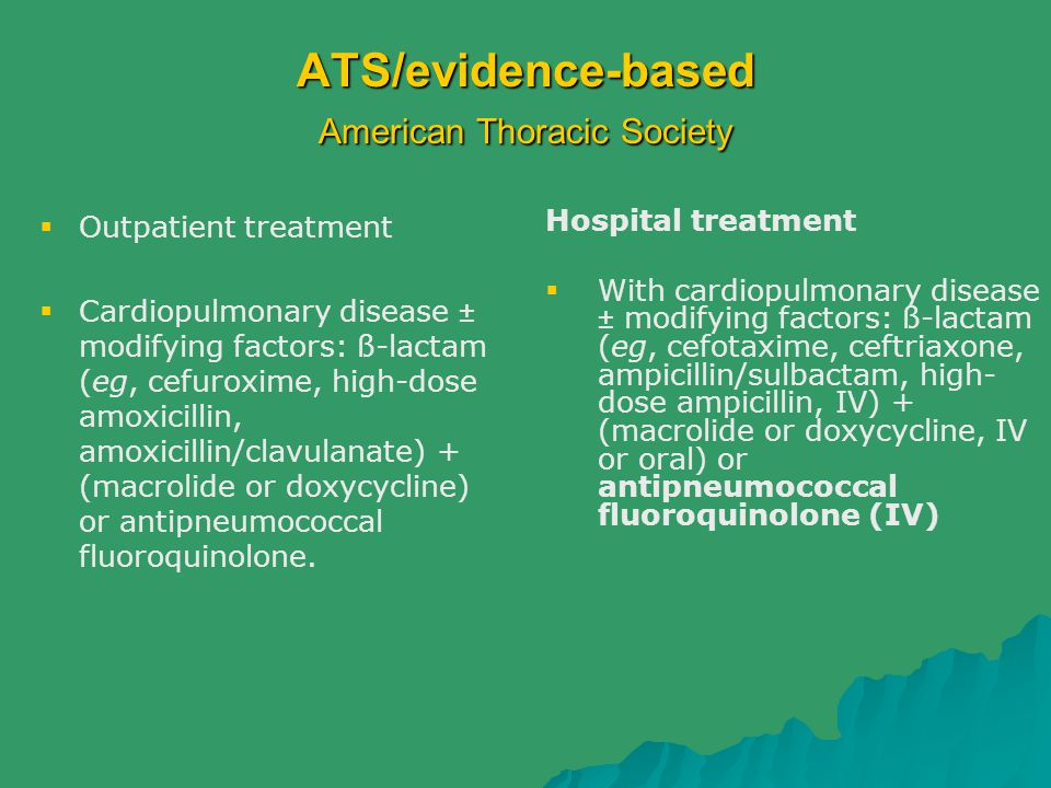 ATS/evidence-based American Thoracic Society