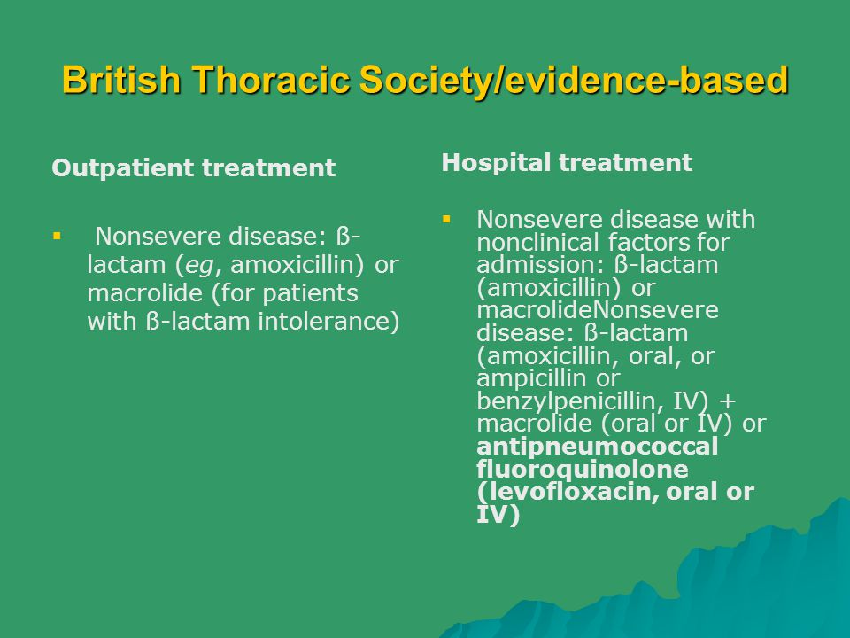 British Thoracic Society/evidence-based