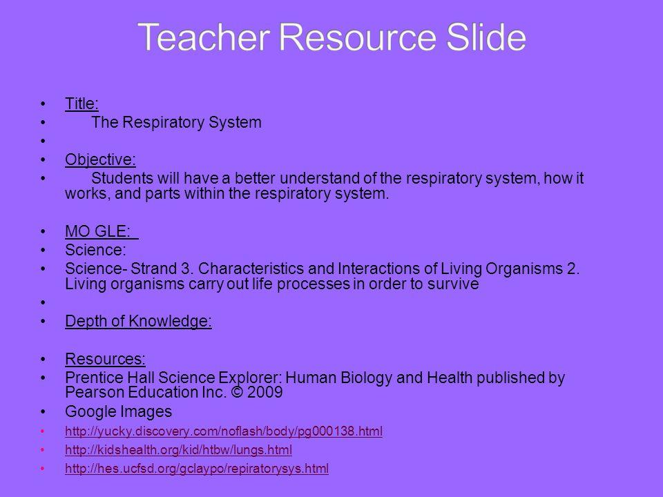 Teacher Resource Slide