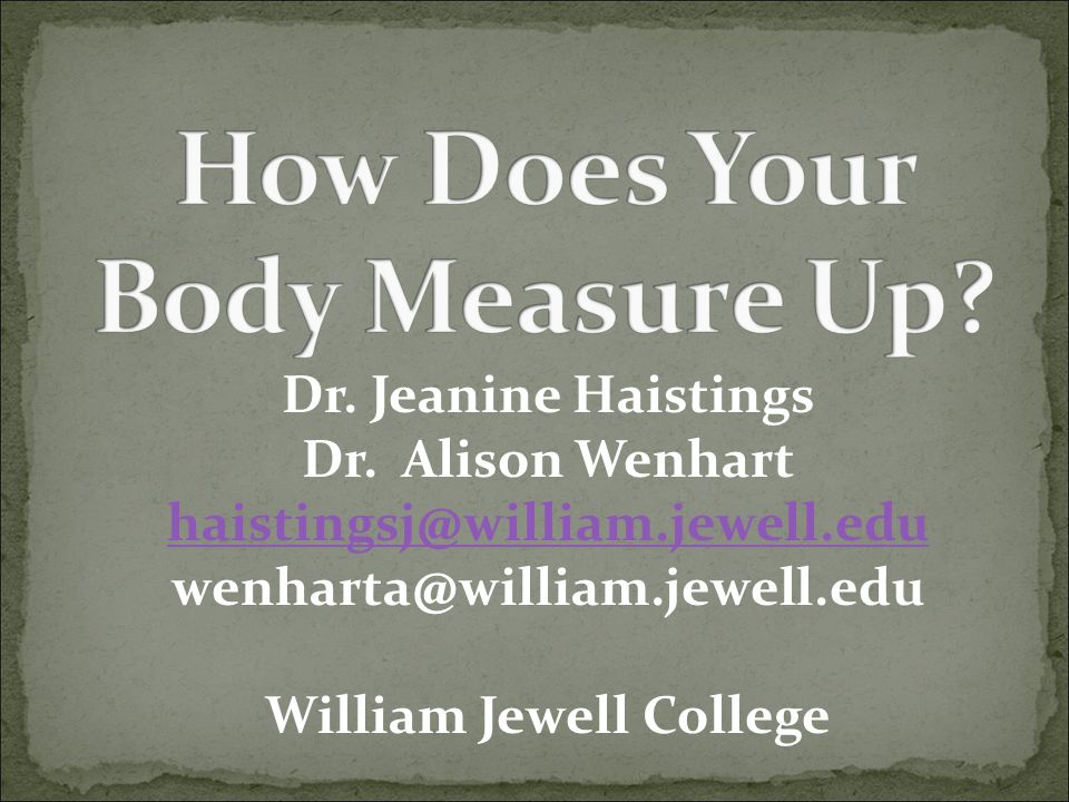How Does Your Body Measure Up