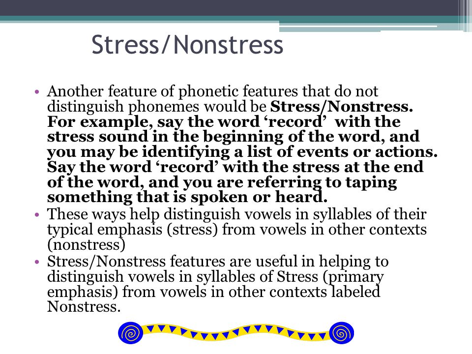 Stress/Nonstress