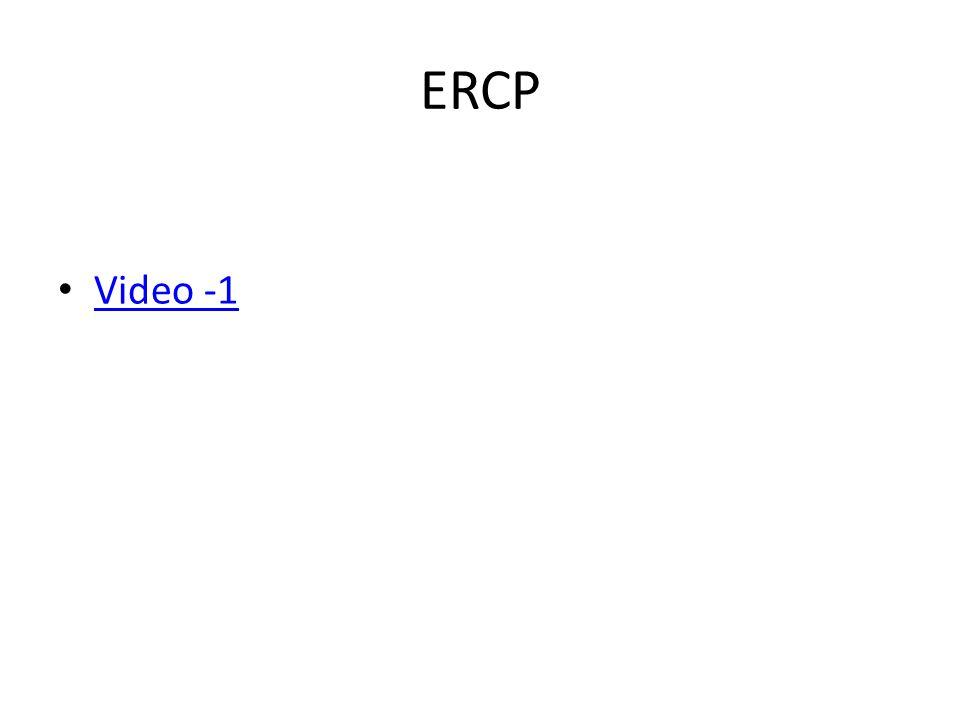 ERCP Video -1