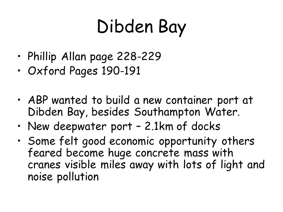 Dibden Bay Phillip Allan page 228-229 Oxford Pages 190-191