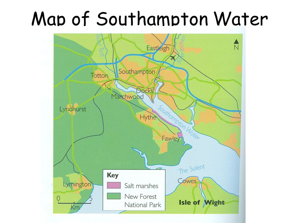 Map of Southampton Water