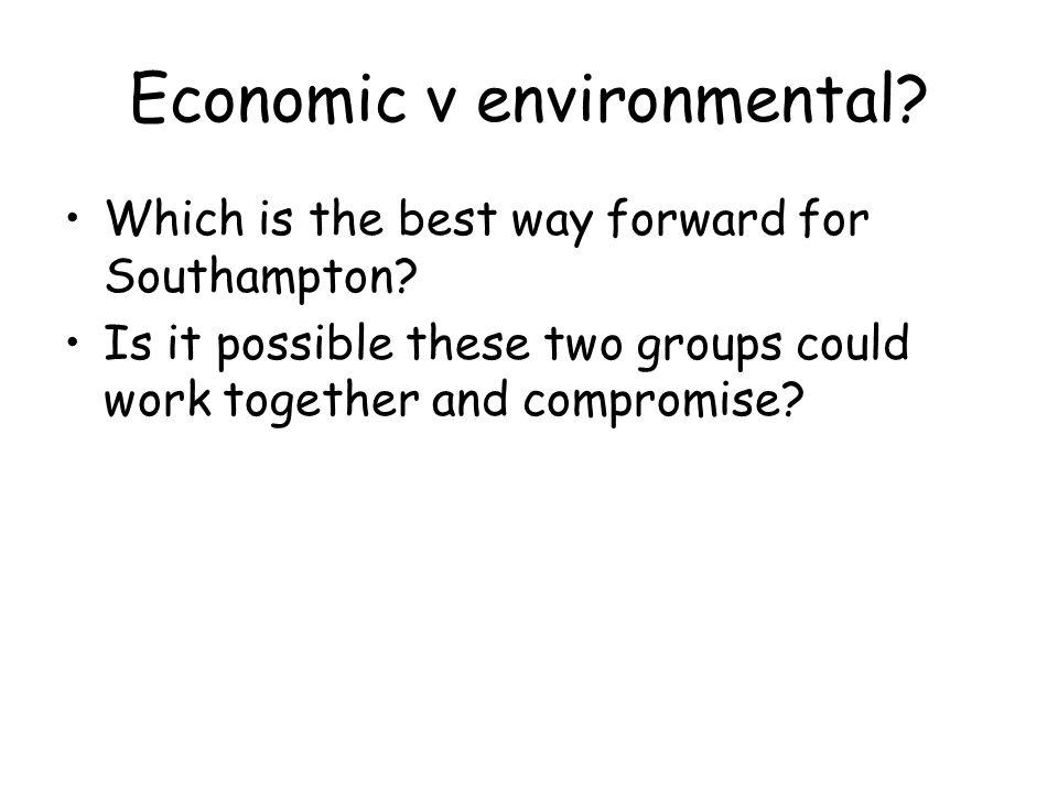 Economic v environmental