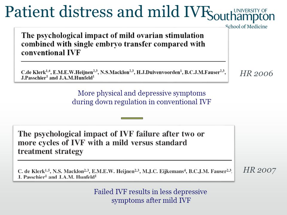 Patient distress and mild IVF