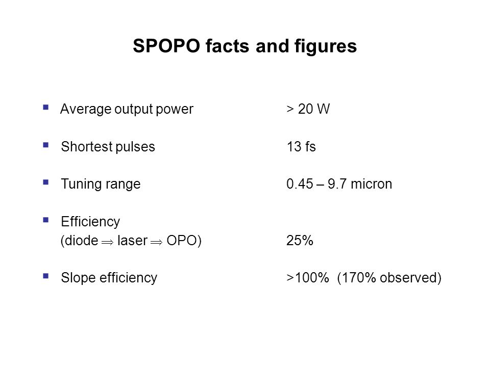 SPOPO facts and figures