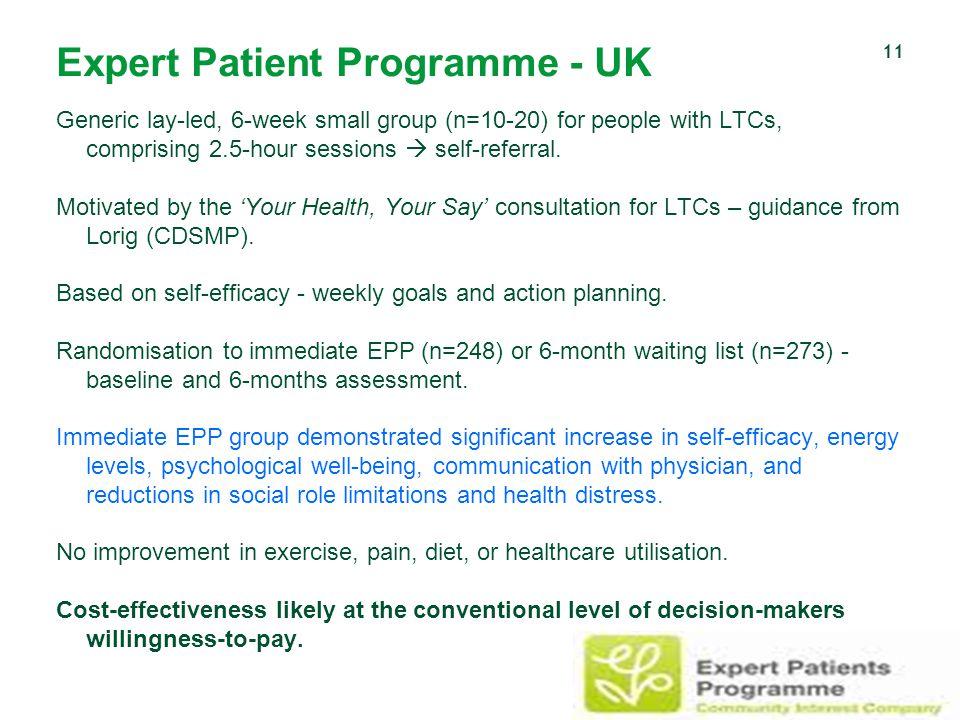 Expert Patient Programme - UK
