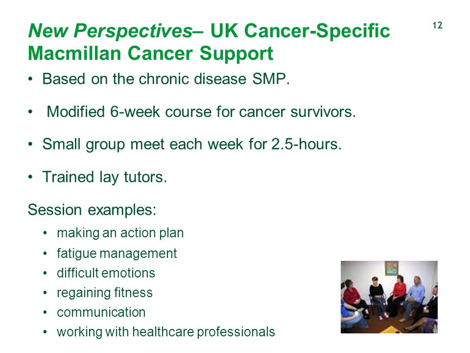 New Perspectives– UK Cancer-Specific Macmillan Cancer Support