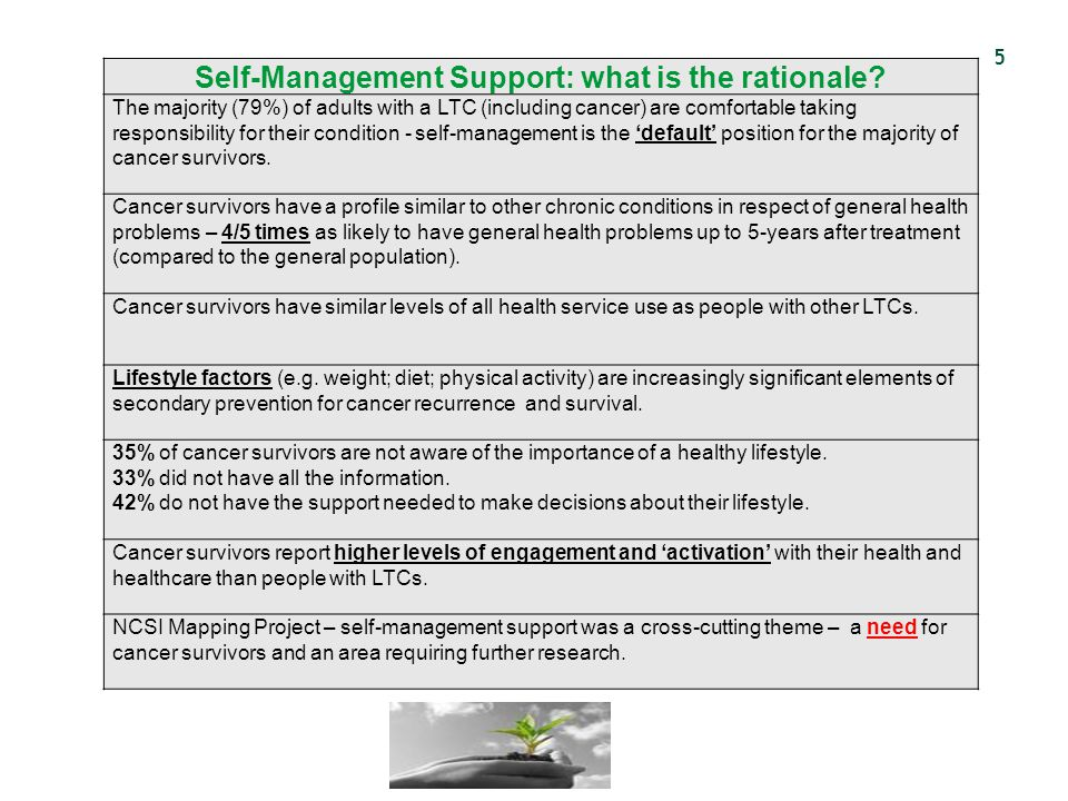 Self-Management Support: what is the rationale
