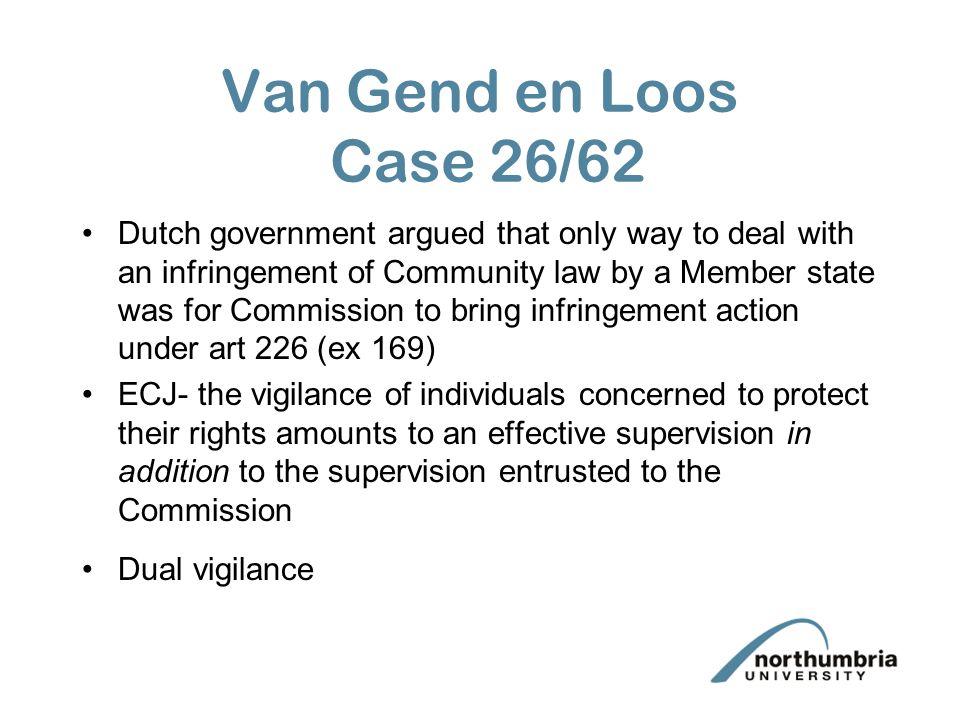 Van Gend en Loos Case 26/62