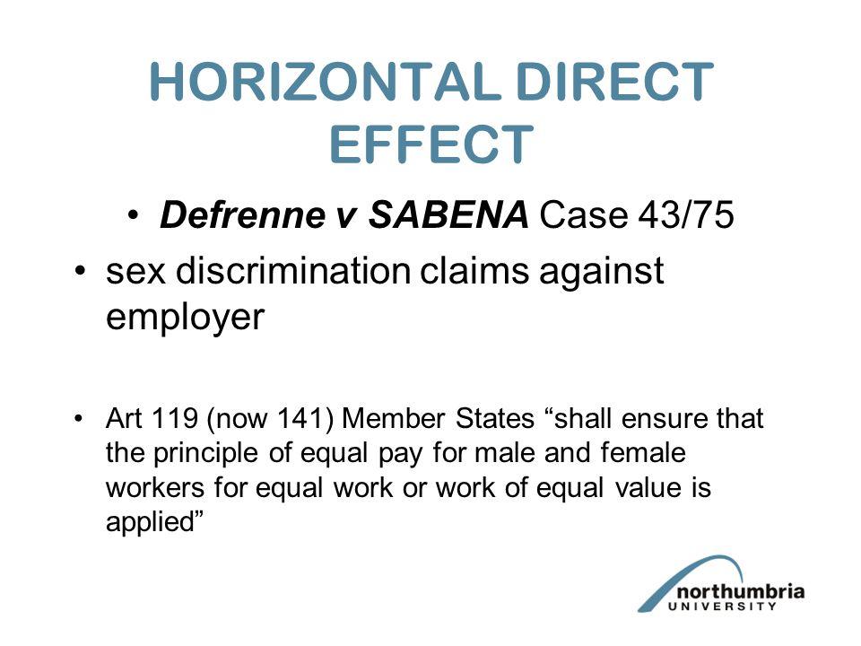HORIZONTAL DIRECT EFFECT