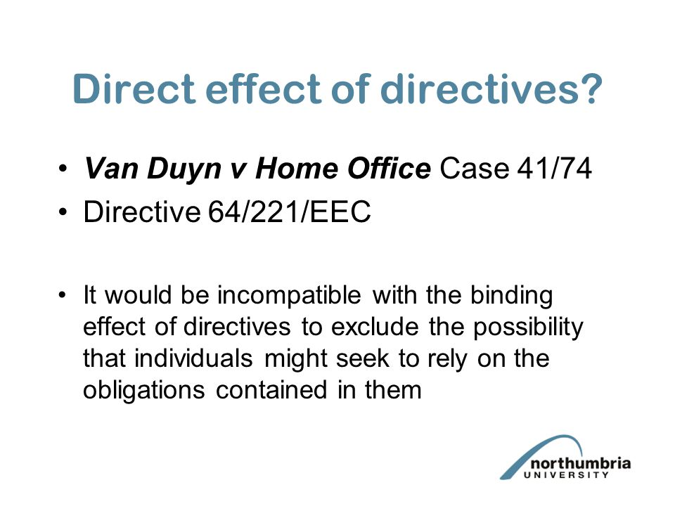 Direct effect of directives