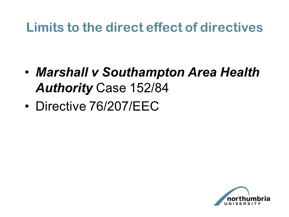 Limits to the direct effect of directives