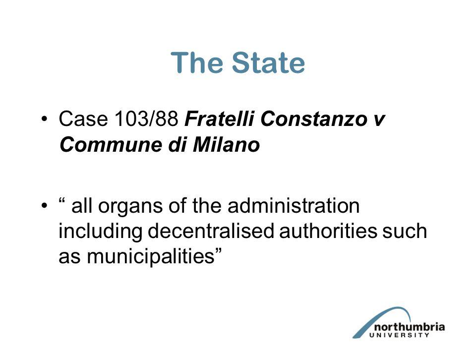 The State Case 103/88 Fratelli Constanzo v Commune di Milano