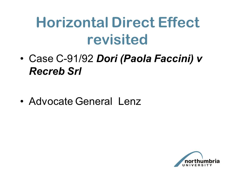 Horizontal Direct Effect revisited