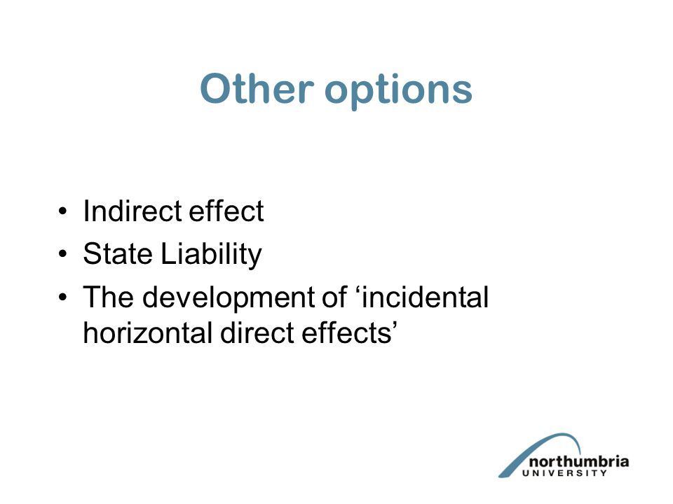 Other options Indirect effect State Liability