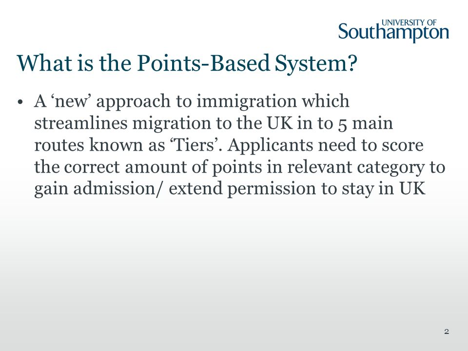 What is the Points-Based System