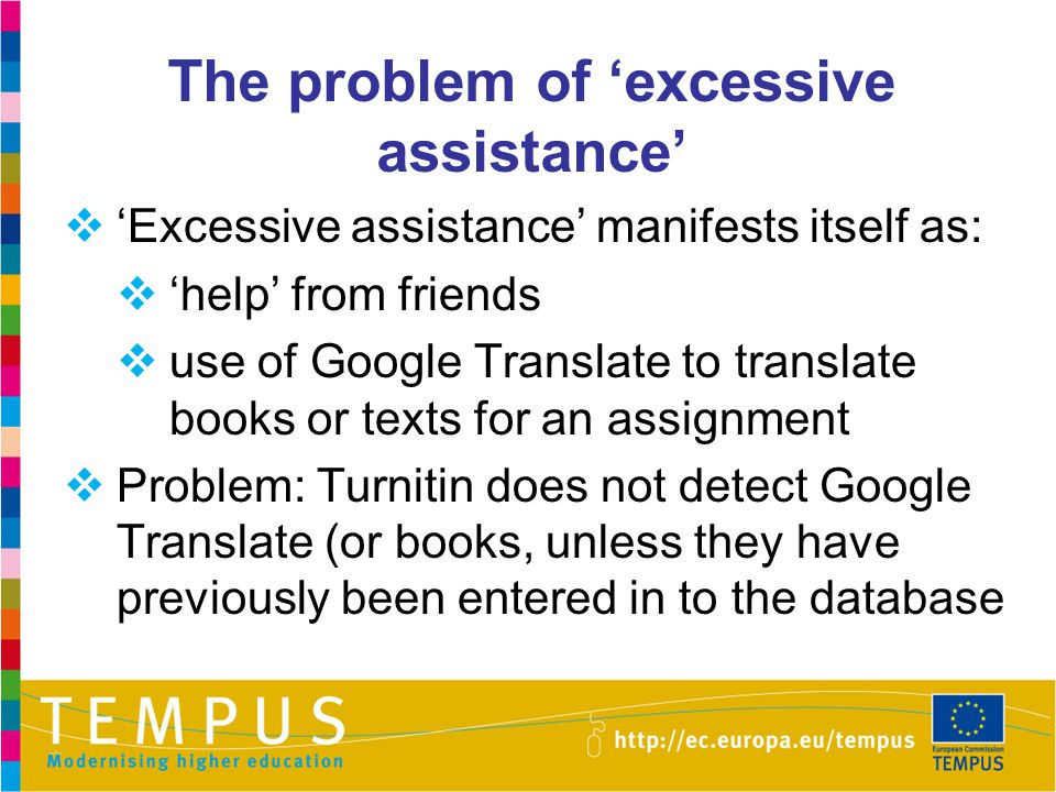 The problem of 'excessive assistance'