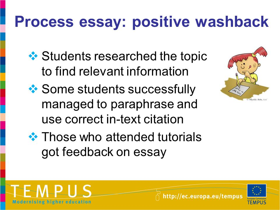 Process essay: positive washback