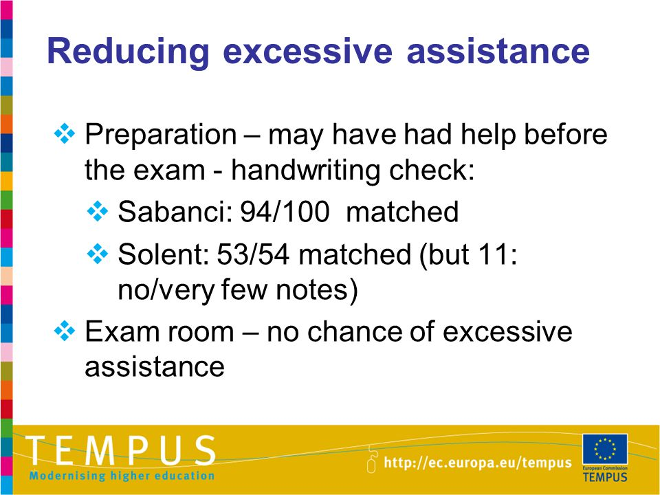 Reducing excessive assistance