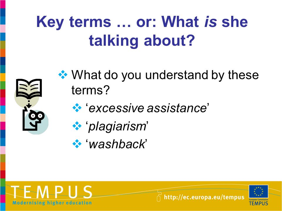 Key terms … or: What is she talking about