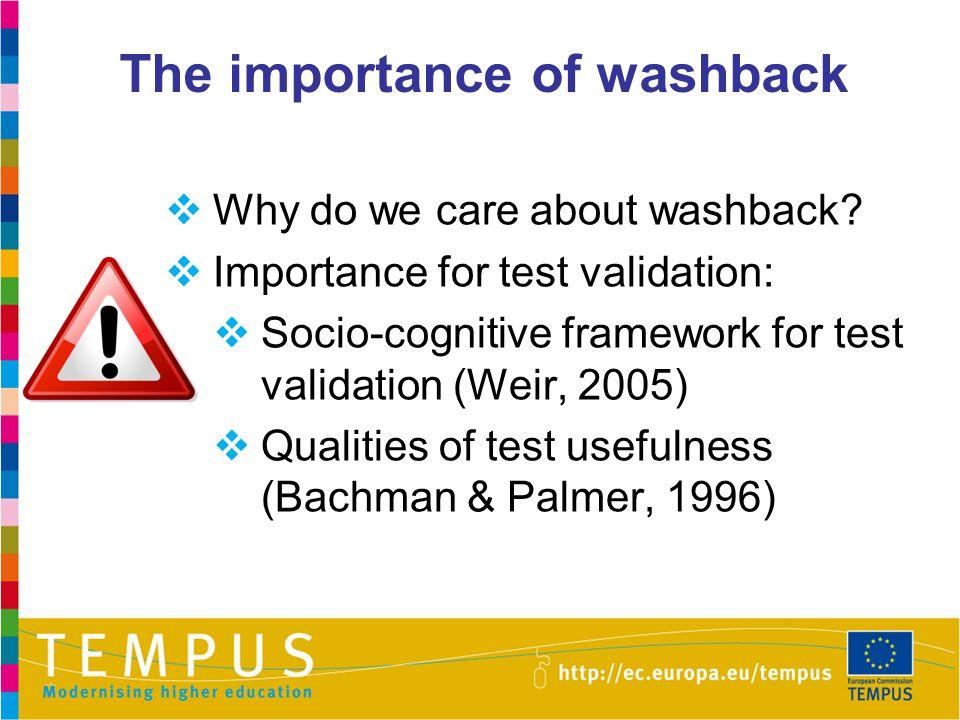 The importance of washback