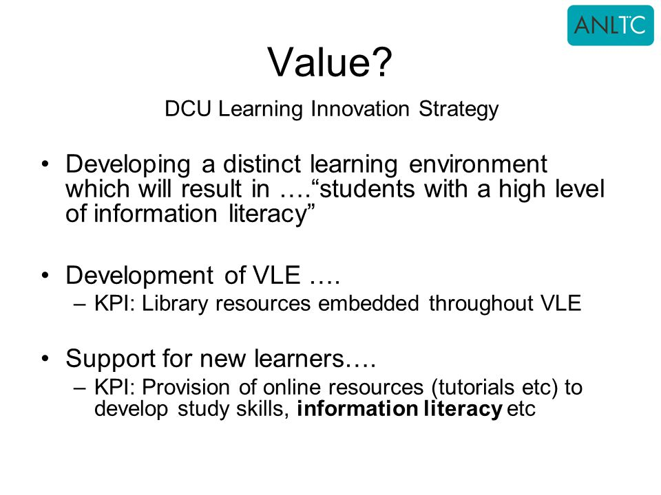 DCU Learning Innovation Strategy