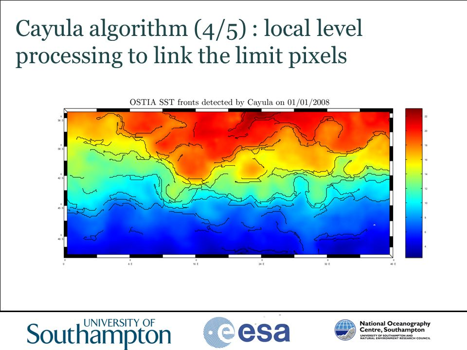 Cayula algorithm (4/5) : local level processing to link the limit pixels