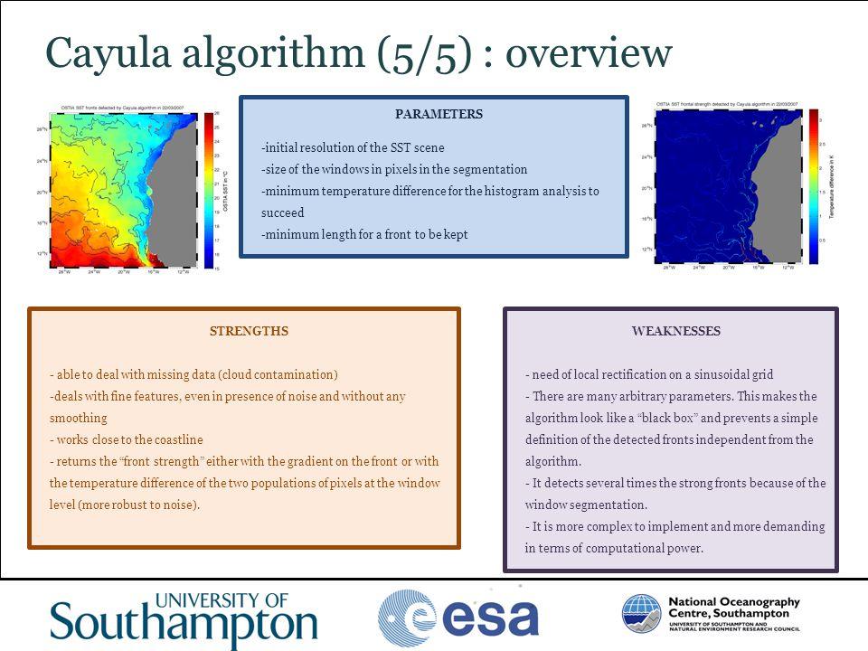 Cayula algorithm (5/5) : overview