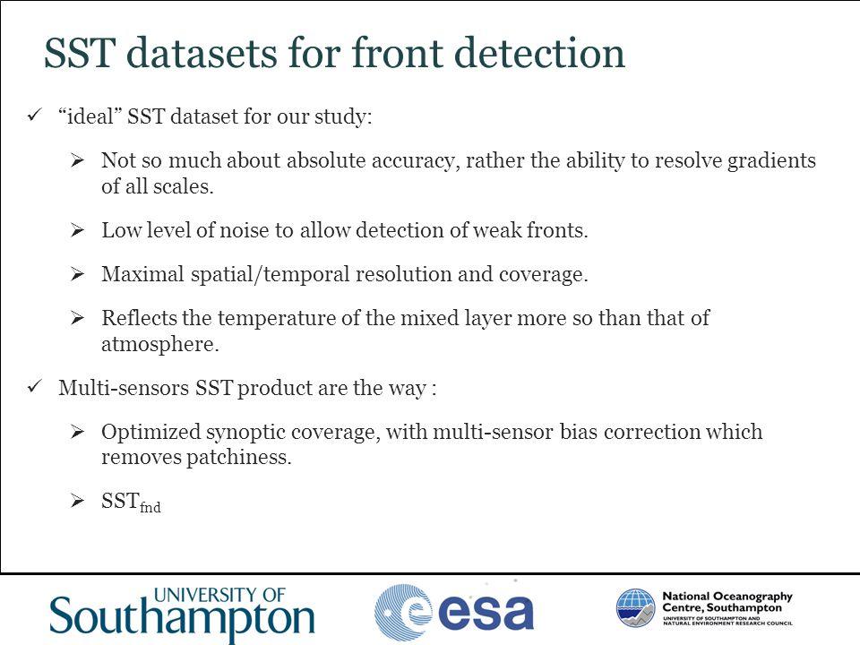 SST datasets for front detection