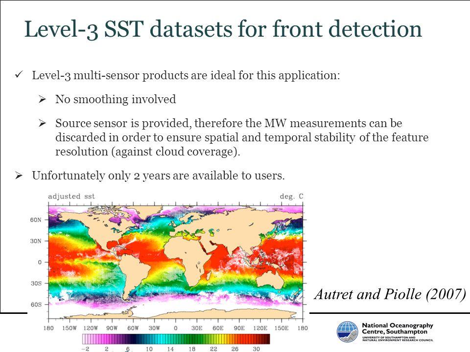 Level-3 SST datasets for front detection
