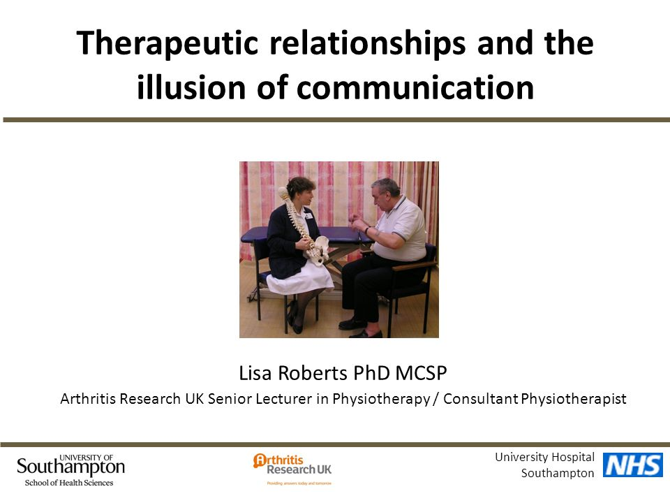 Therapeutic relationships and the illusion of communication