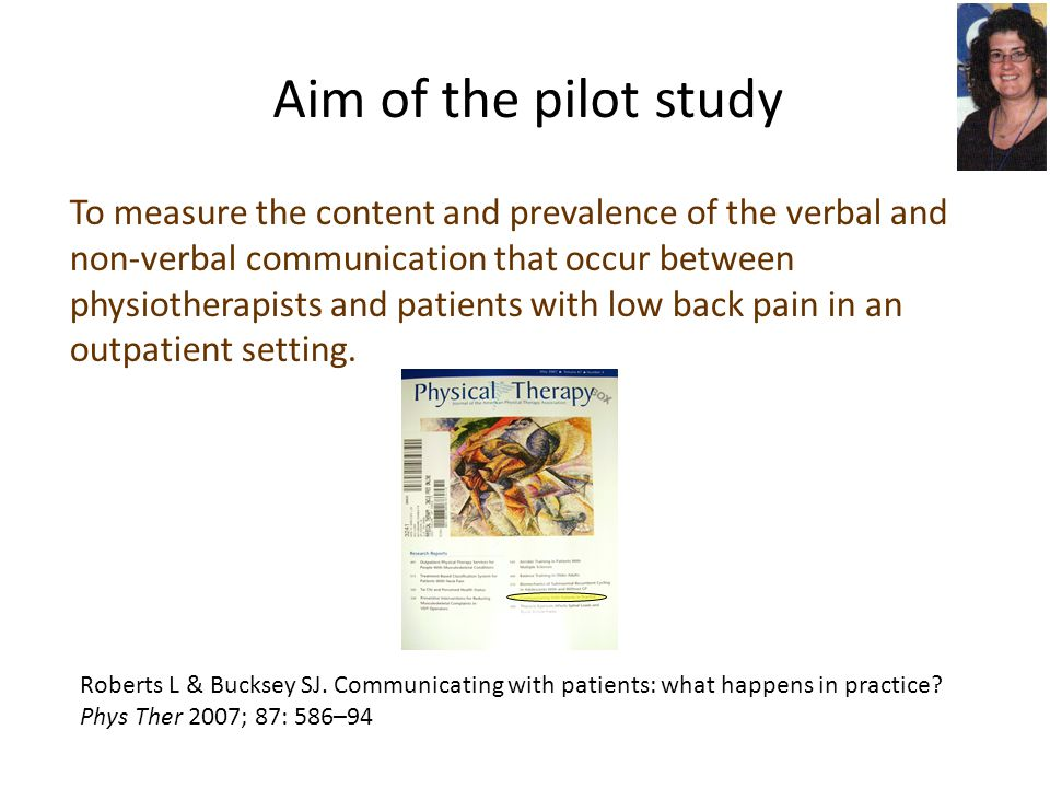 Aim of the pilot study