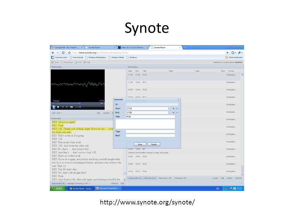 Synote http://www.synote.org/synote/