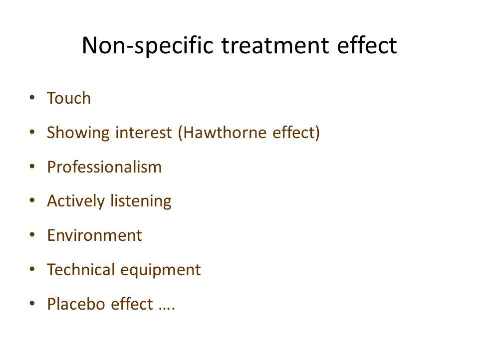 Non-specific treatment effect
