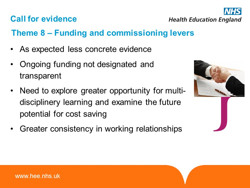 Theme 8 – Funding and commissioning levers