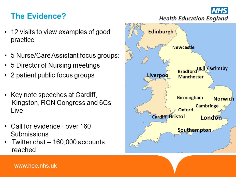 The Evidence 12 visits to view examples of good practice