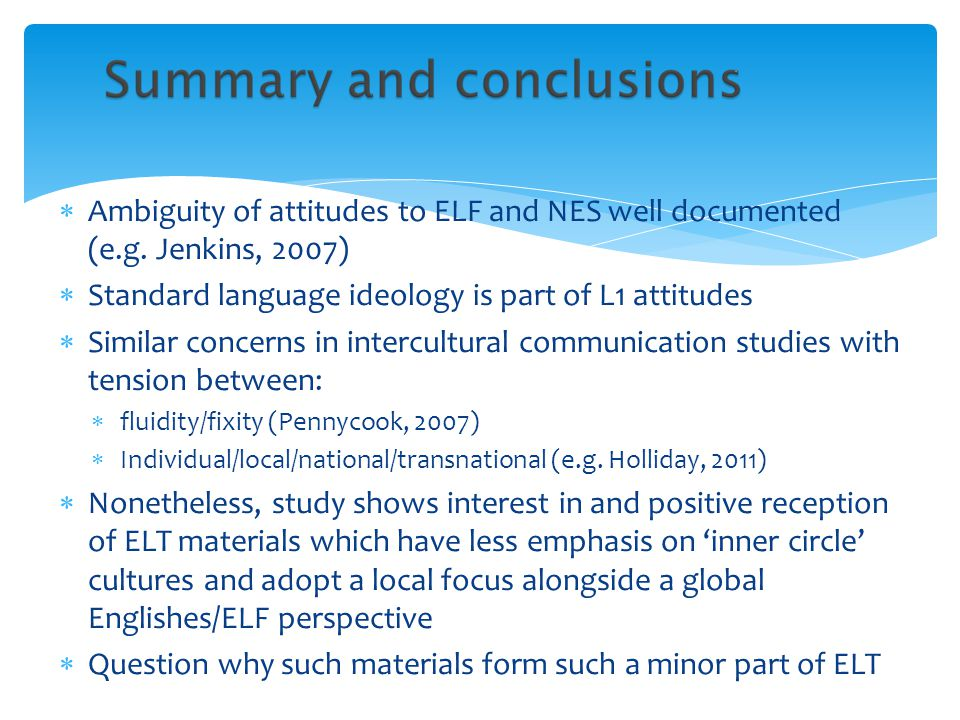 Standard language ideology is part of L1 attitudes
