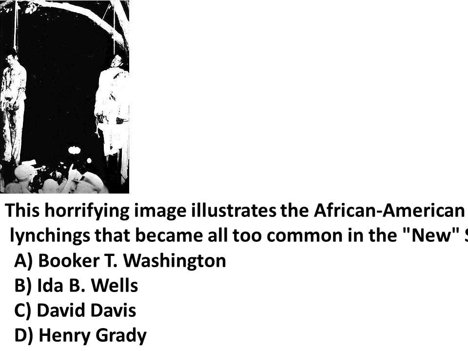 This horrifying image illustrates the African-American