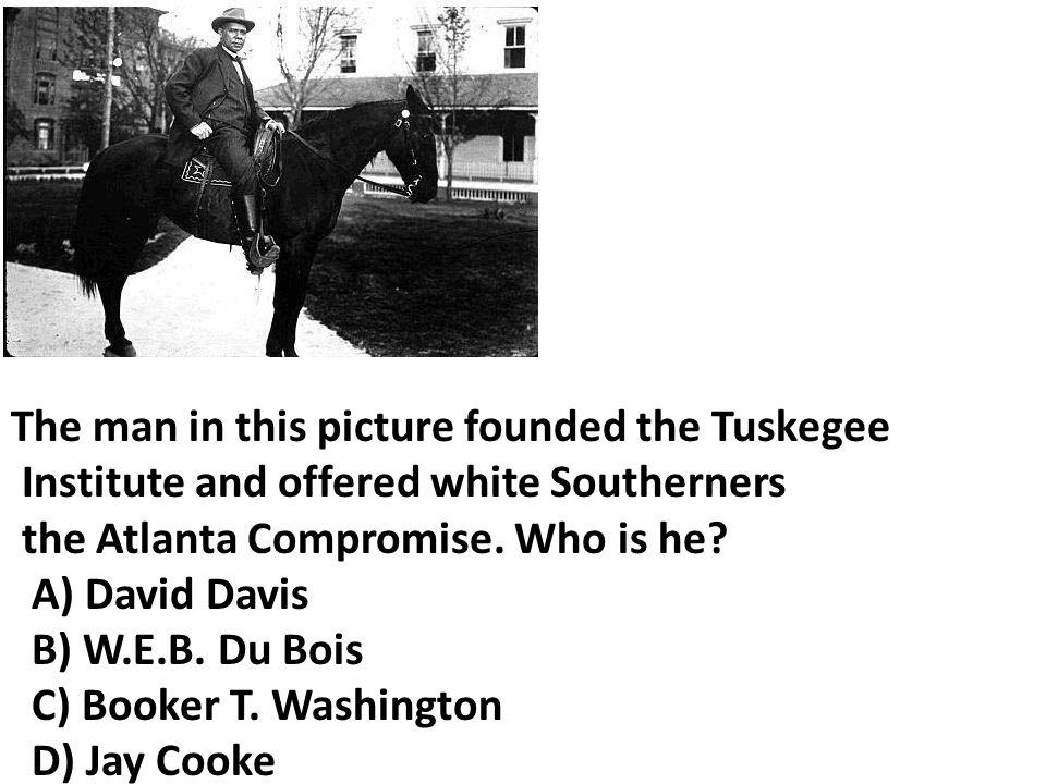 The man in this picture founded the Tuskegee