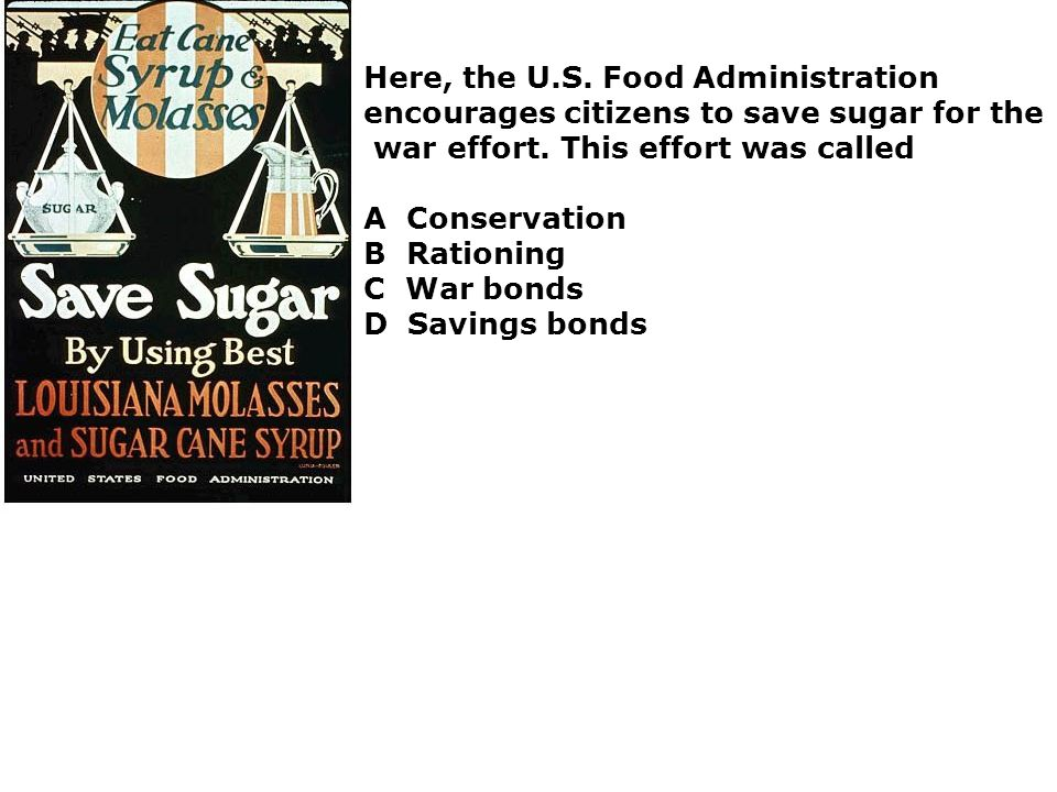 Here, the U.S. Food Administration