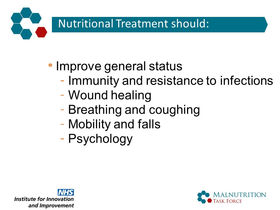 Nutritional Treatment should: