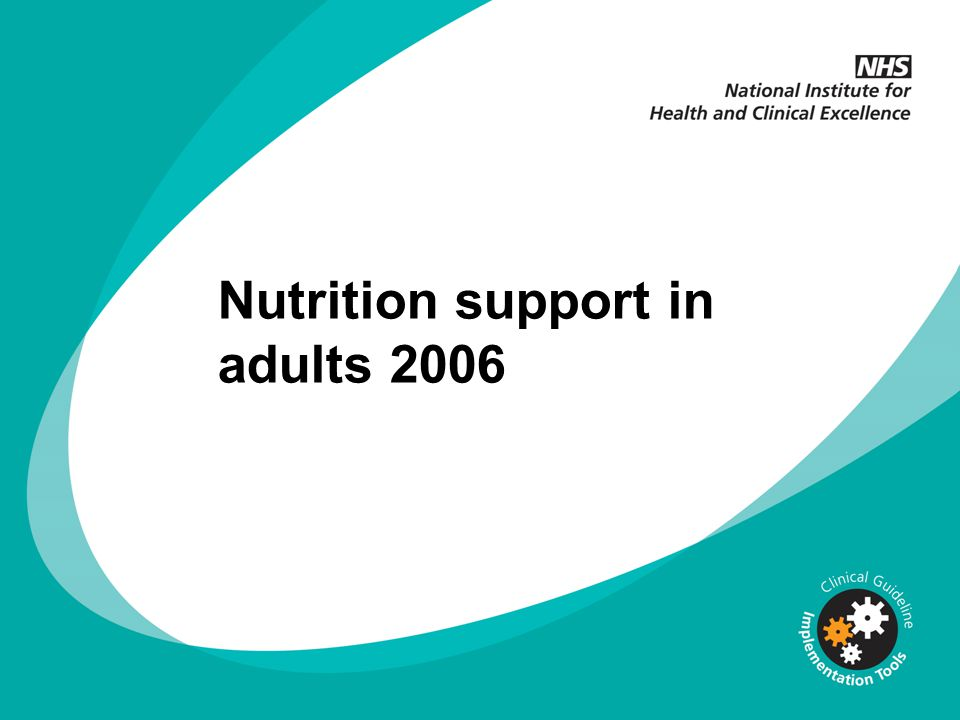 Nutrition support in adults 2006