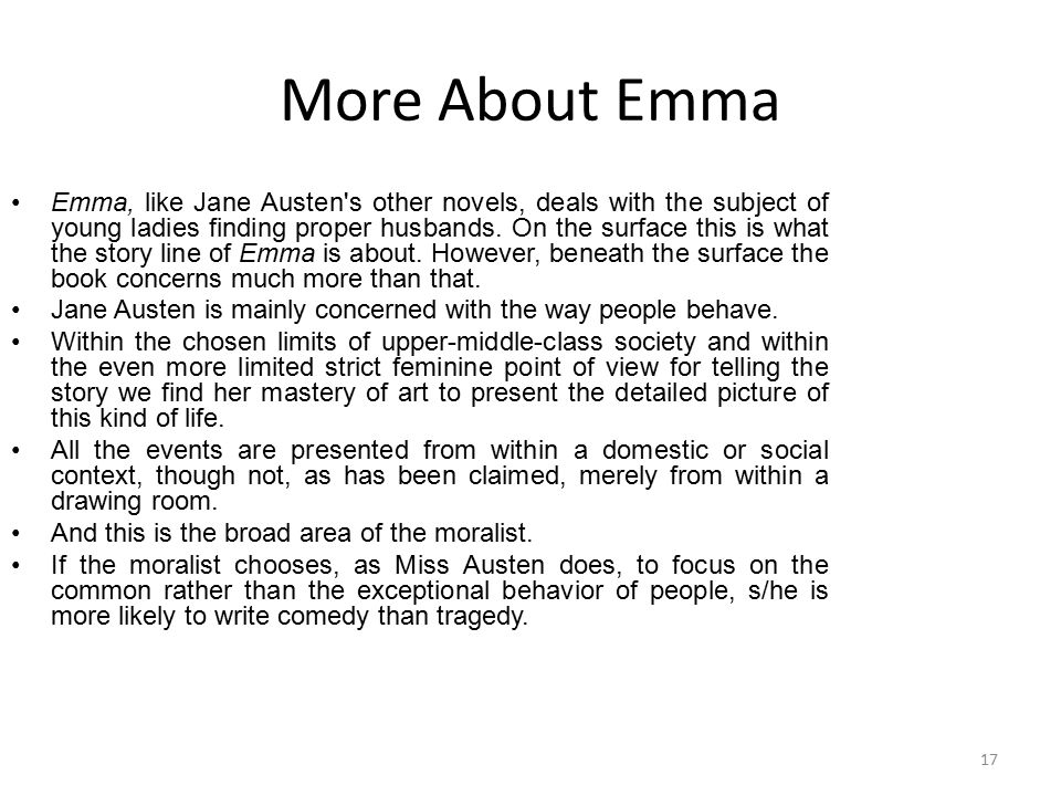 More About Emma